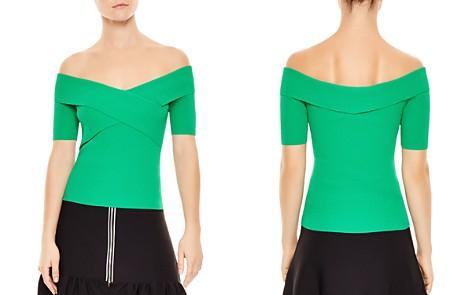 Sandro Galina Crisscross-Detail Ribbed Sweater - Bloomingdale's_2