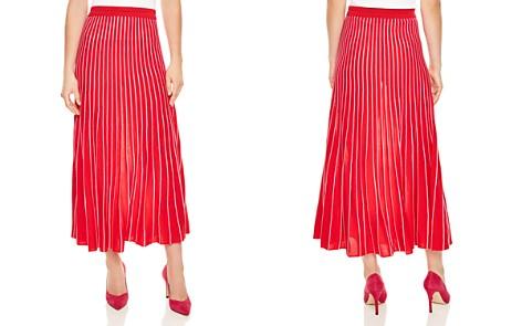 Sandro Shryl Pleated Striped Midi Skirt - Bloomingdale's_2