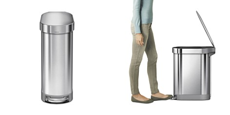 simplehuman 45L Slim Step Can with Liner Rim - Bloomingdale's_2