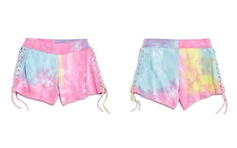 Flowers by Zoe Girls' Lace-Up Tie-Dye Shorts - Little Kid - Bloomingdale's_2