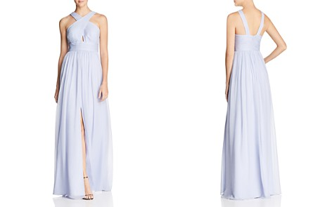 Aidan Mattox Pleated Silk Gown - 100% Exclusive - Bloomingdale's_2
