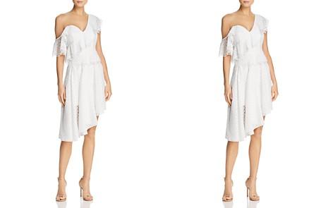 Bardot One-Shoulder Ruffled Polka Dot Dress - 100% Exclusive - Bloomingdale's_2