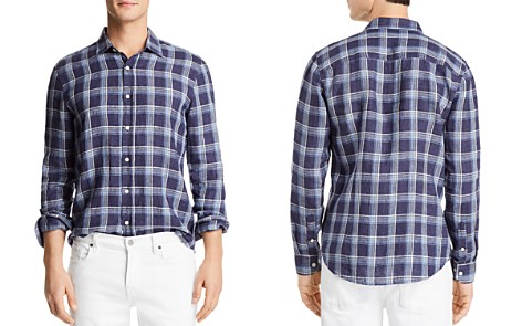The Men's Store at Bloomingdale's Yarn Dye Linen Long Sleeve Button-Down Shirt - 100% Exclusive_2