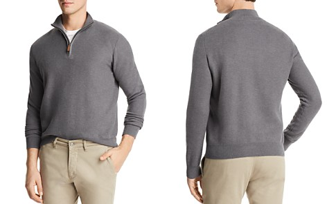 The Men's Store at Bloomingdale's Birdseye Quarter-Zip Sweater - 100% Exclusive_2