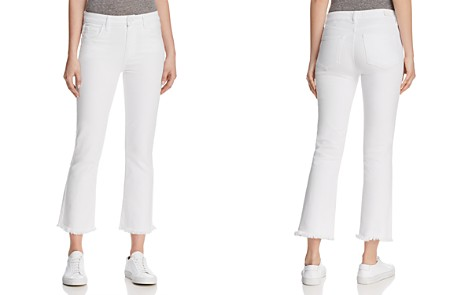Paige Colette Crop Heavy-Fray Jeans in Crisp White - 100% Exclusive - Bloomingdale's_2
