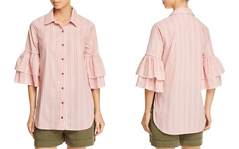 Ella Moss Striped Tiered-Sleeve Shirt - Bloomingdale's_2