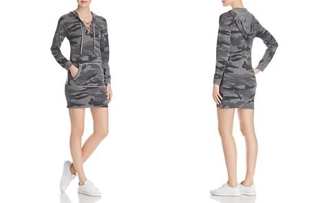 Splendid Lace-Up Camo Sweatshirt Dress - Bloomingdale's_2