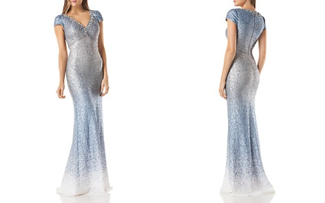 Carmen Marc Valvo Infusion Ombré Sequin Gown - Bloomingdale's_2