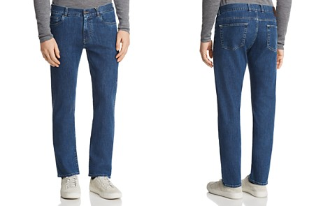 Canali Stretch New Tapered Fit Jeans in Blue Denim - Bloomingdale's_2