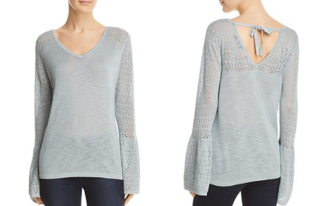 Avec Pointelle Tie Back Sweater - Bloomingdale's_2
