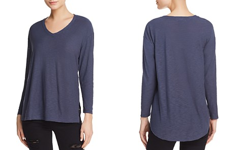 Michelle by Comune Dexter Long-Sleeve V-Neck Tee - Bloomingdale's_2