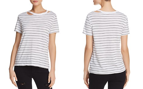 Michelle by Comune Cutout Striped Jersey Tee - 100% Exclusive - Bloomingdale's_2