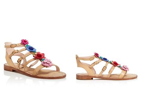 kate spade new york Women's Sadia Leather Floral Appliqué Sandals - Bloomingdale's_2