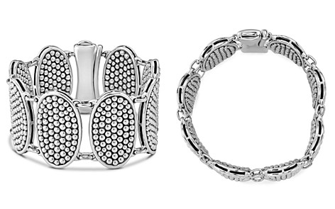LAGOS Sterling Silver Bold Caviar Ellipse Link Bracelet - Bloomingdale's_2