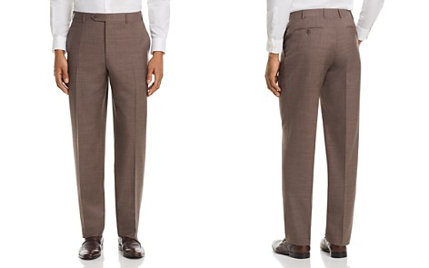 Canali Cross Weave Regular Fit Dress Pants - Bloomingdale's_2