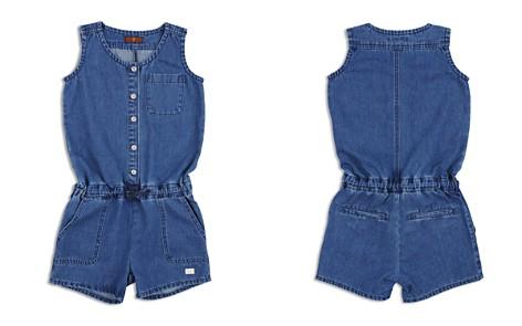 7 For All Mankind Girls' Denim Button-Up Romper - Big Kid - Bloomingdale's_2