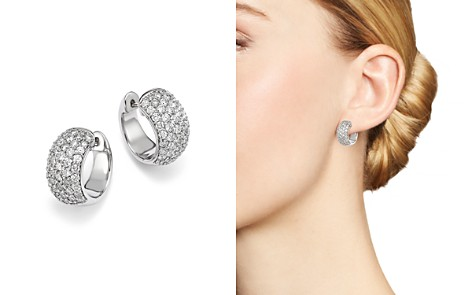 Bloomingdale's Diamond Huggie Hoop Earrings in 14K White Gold, 2.0 ct. t.w. - 100% Exclusive _2