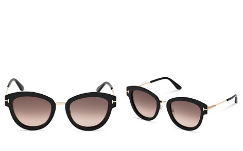 Tom Ford Mia Round Sunglasses, 52mm - Bloomingdale's_2