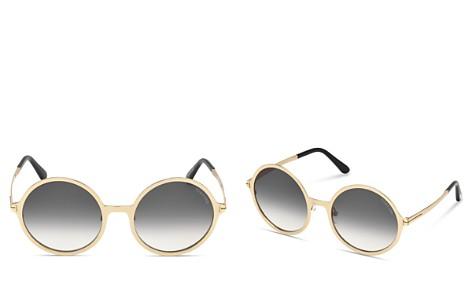 Tom Ford Women's Ava Oversized Round Sunglasses, 57mm - Bloomingdale's_2