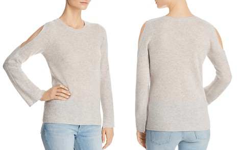 C by Bloomingdale's Cold-Shoulder Lightweight Cashmere Sweater - 100% Exclusive _2