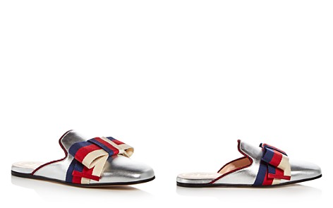 Gucci Women's Leather Bow Mules - Bloomingdale's_2
