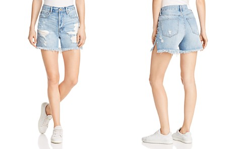 Pistola Devin Mom Cutoff Denim Shorts in Savage Blue - Bloomingdale's_2