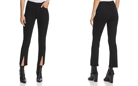 MOTHER Insider Slit Cropped Fray Jeans in Not Guilty - Bloomingdale's_2