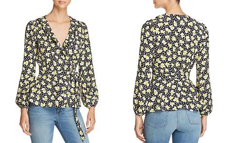 KAREN MILLEN Floral Print Wrap Top - 100% Exclusive - Bloomingdale's_2