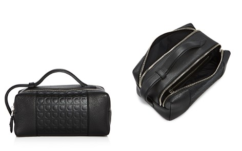 Salvatore Ferragamo Stamped Gancini and Pebbled Leather Travel Kit - Bloomingdale's_2