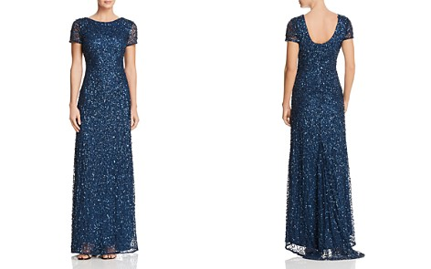 Adrianna Papell Sequined Scoop-Back Gown - Bloomingdale's_2