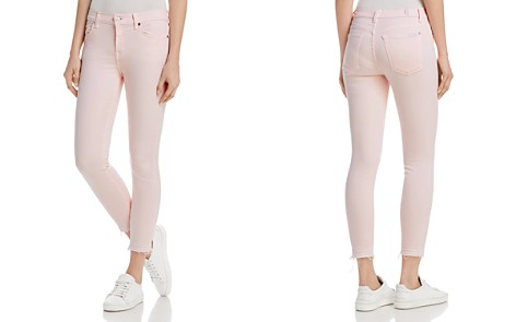 7 For All Mankind Ankle Skinny Jeans in Pink Sunrise - Bloomingdale's_2