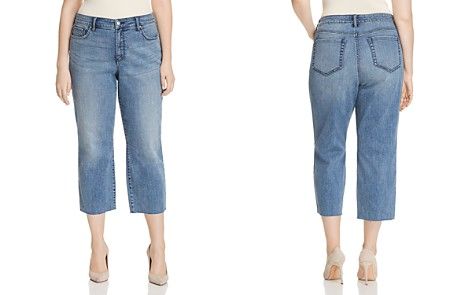 NYDJ Plus Jenna Cropped Raw-Hem Jeans in Point Dune - 100% Exclusive - Bloomingdale's_2