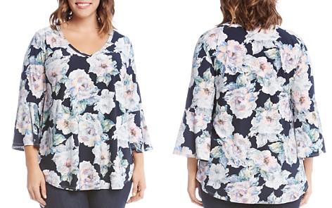 Karen Kane Plus Floral Print Bell Sleeve Top - Bloomingdale's_2