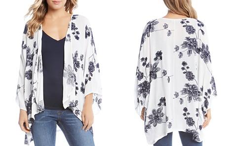 Karen Kane Floral Embroidered Kimono - 100% Exclusive - Bloomingdale's_2