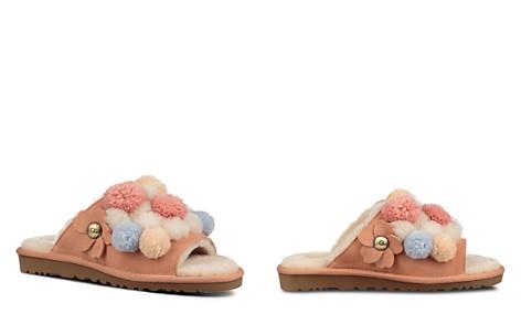 UGG® Women's Clio Sheepskin Pom-Pom Slide Sandals - Bloomingdale's_2