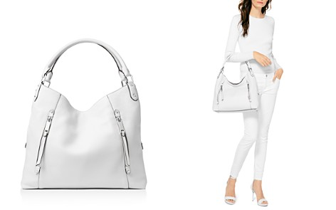 MICHAEL Michael Kors Evie Large Leather Shoulder Tote - Bloomingdale's_2