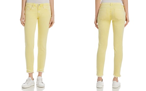 BLANKNYC Frayed Ankle Skinny Jeans in Yellow - 100% Exclusive - Bloomingdale's_2
