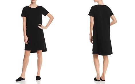 Eileen Fisher Petites Ponte Knit Step-Hem Dress - Bloomingdale's_2