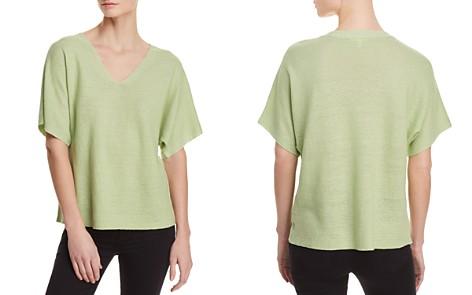 Eileen Fisher Organic Linen Deep V-Neck Sweater - Bloomingdale's_2