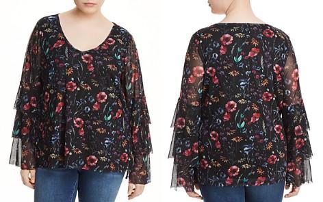 Love Scarlett Plus Floral-Print Tiered Sleeve Top - Bloomingdale's_2