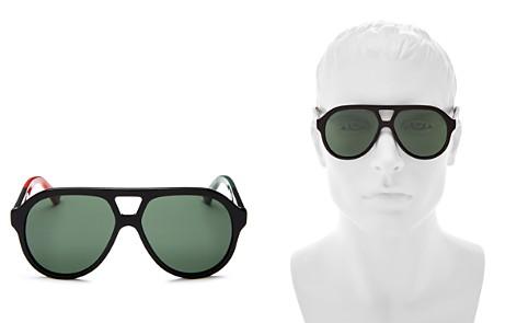 Gucci Color-Block Aviator Sunglasses, 59mm - Bloomingdale's_2