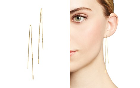 Zoë Chicco 14K Yellow Gold Bar & Chain Threader Earrings - Bloomingdale's_2