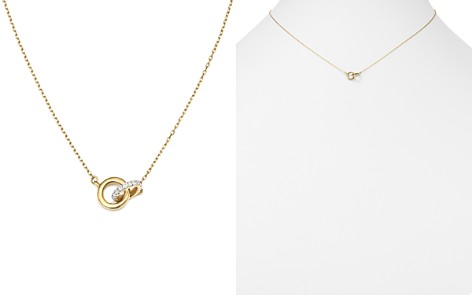 "Adina Reyter 14K Yellow Gold Pavé Diamond Interlocking Loop Necklace, 15"" - Bloomingdale's_2"