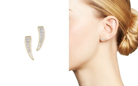 Adina Reyter 14K Yellow Gold Pavé Diamond Tusk Earrings - Bloomingdale's_2