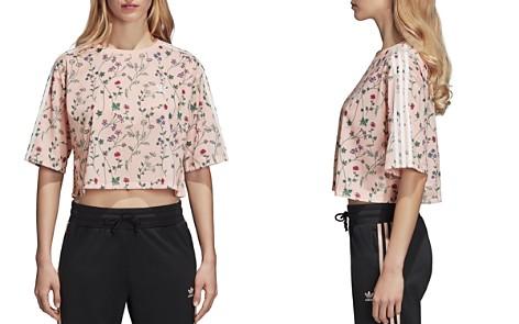 adidas Originals Floral Print Cropped Tee - Bloomingdale's_2
