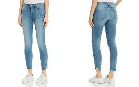 FRAME Le High Skinny Gusset Step Hem Jeans in Brummel - Bloomingdale's_2