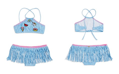 PilyQ Girls' 2-Piece Shimmer Patch & Fringe Swimsuit - Little Kid, Big Kid - Bloomingdale's_2
