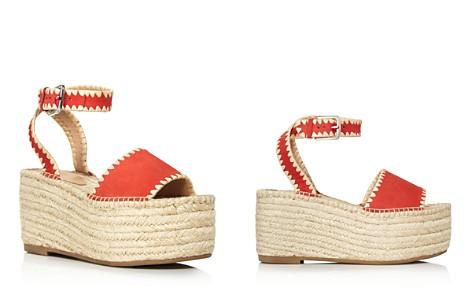 Pour La Victoire Women's Ria Suede & Raffia Espadrille Platform Wedge Sandals - Bloomingdale's_2