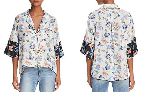 Joie Desmonda Silk Pajama-Style Top - Bloomingdale's_2