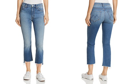 MOTHER Insider Crop Step-Hem Fray Jeans in One Smart - 100% Exclusive - Bloomingdale's_2